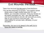 exit wounds the book
