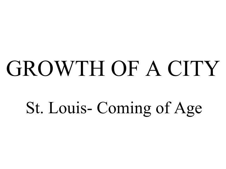 growth of a city n.