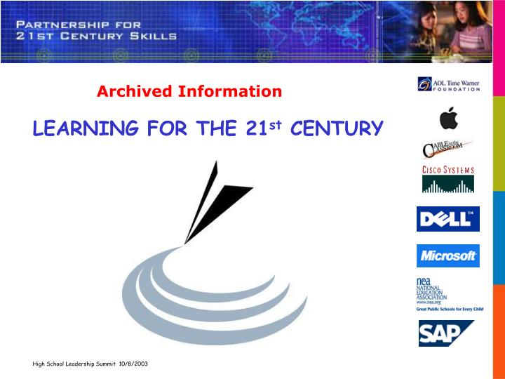 learning for the 21 st century n.