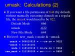 umask calculations 2