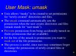 user mask umask