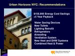 urban horizons nyc recommendations