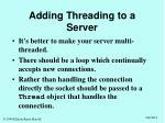 adding threading to a server