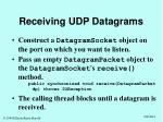 receiving udp datagrams