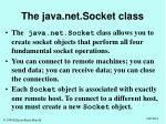 the java net socket class
