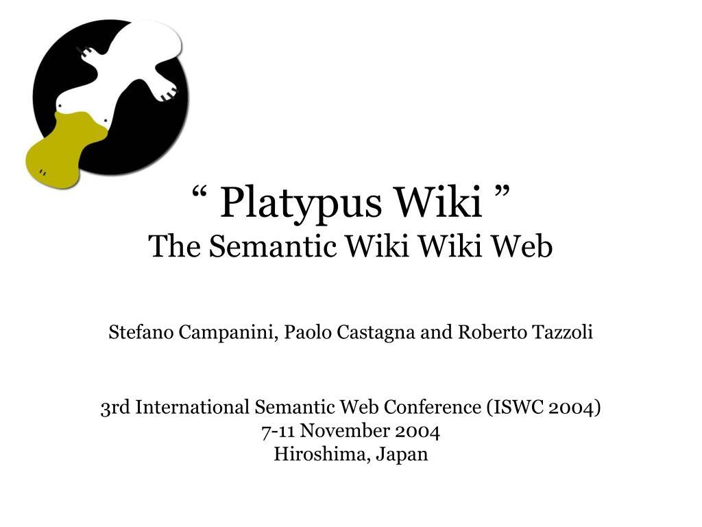 platypus wiki the semantic wiki wiki web l.