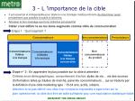 3 l importance de la cible