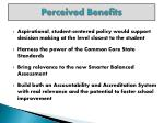 perceived benefits