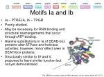 motifs ia and ib