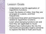 lesson goals