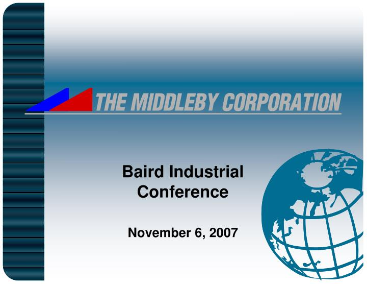 the middleby corporation n.