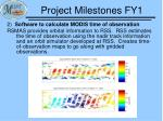 project milestones fy12