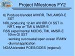 project milestones fy25