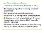east west migration impact zaiceva zimmerman oxrevep 2008