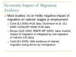economic impact of migration evidence