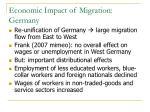 economic impact of migration germany