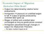 economic impact of migration heckscher ohlin model1
