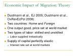 economic impact of migration theory