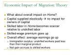 economic impact of migration theory4