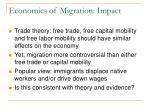 economics of migration impact