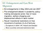 eu enlargement and east west migration