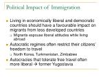 political impact of immigration