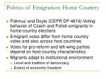 politics of emigration home country1