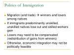 politics of immigration