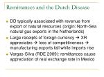 remittances and the dutch disease