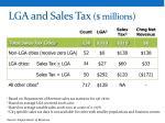 lga and sales tax millions