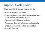purpose goals review