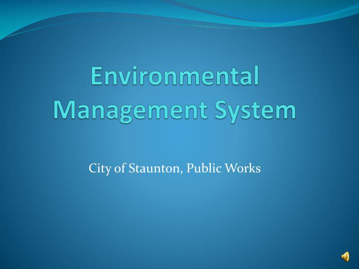 environmental management system n.