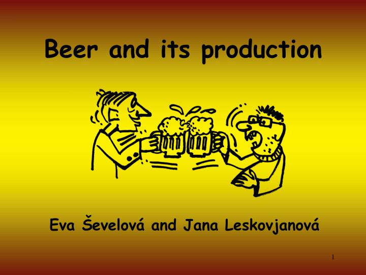 beer and its production n.