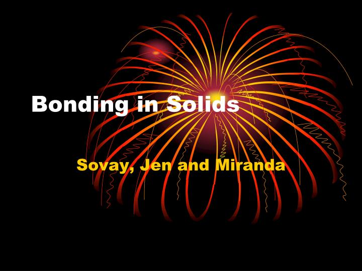 bonding in solids n.