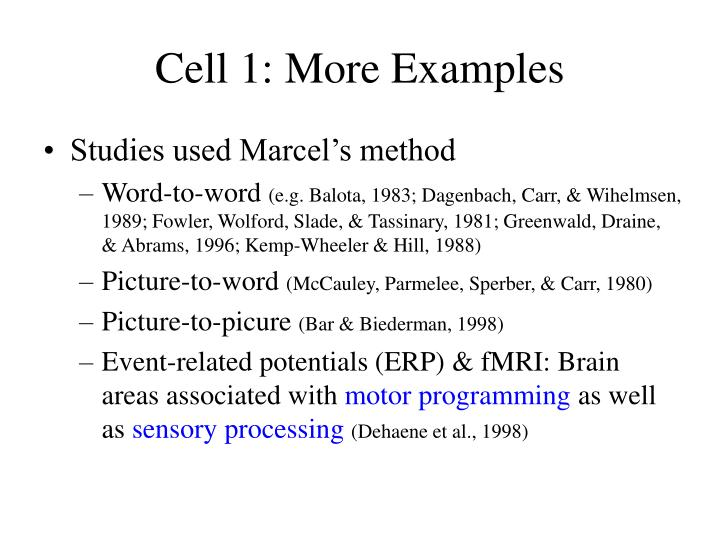 Cell 1: More Examples