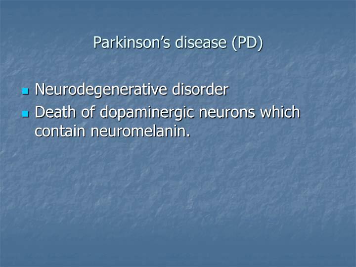 Parkinson s disease pd