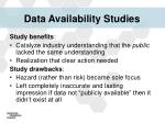 data availability studies1