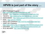 hpvis is just part of the story