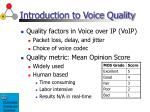 introduction to voice quality