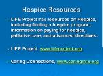 hospice resources