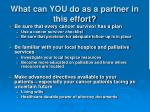 what can you do as a partner in this effort2