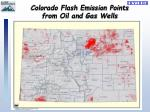 colorado flash emission points from oil and gas wells