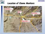 location of ozone monitors