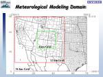 meteorological modeling domain