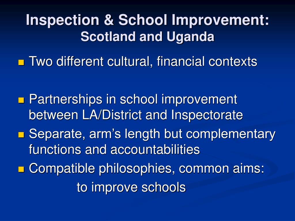 Inspection & School Improvement: