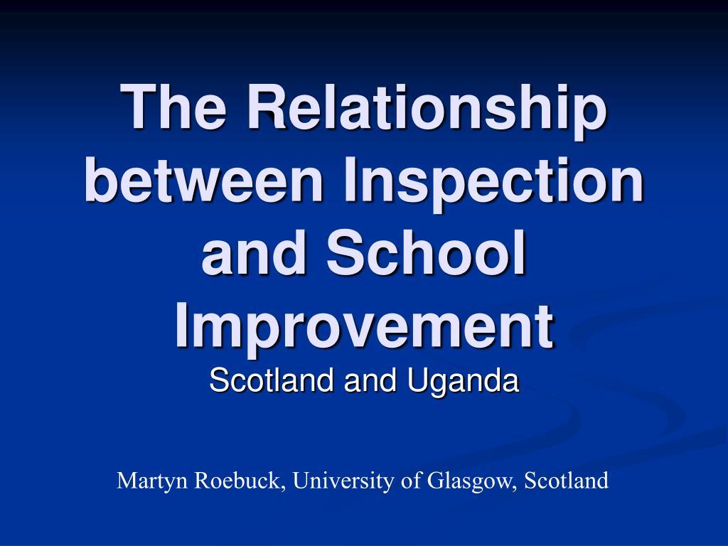 The Relationship between Inspection and School Improvement