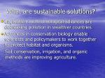 what are sustainable solutions