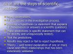 what are the steps of scientific method