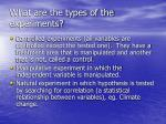 what are the types of the experiments
