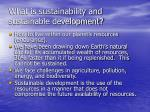 what is sustainability and sustainable development